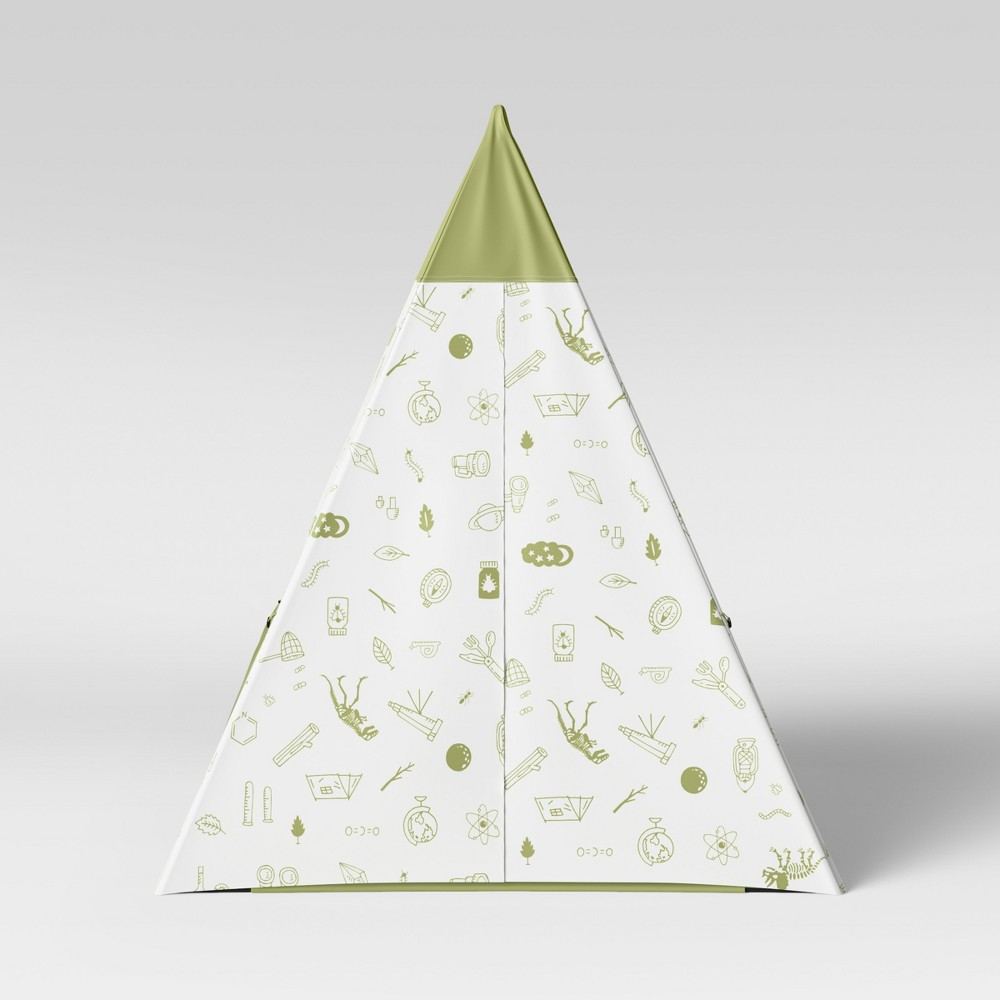 Image of Kids Teepee Backyard Icons Green - Pillowfort