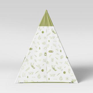 Kids Tent Backyard Icons Green - Pillowfort™