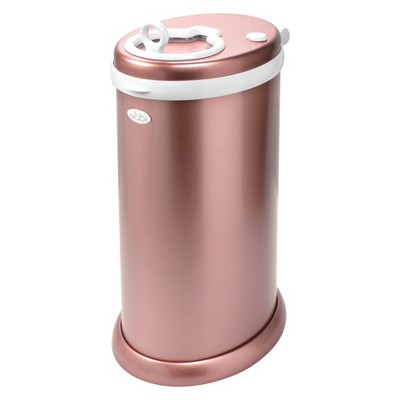 Ubbi Steel Metallic Diaper Pail - Rose Gold