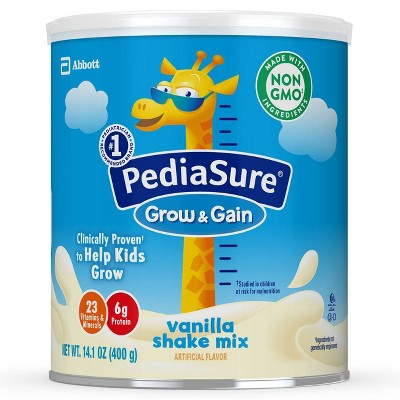 PediaSure Grow & Gain 3pk Non-GMO Vanilla Shake Mix Powder - 42.3oz