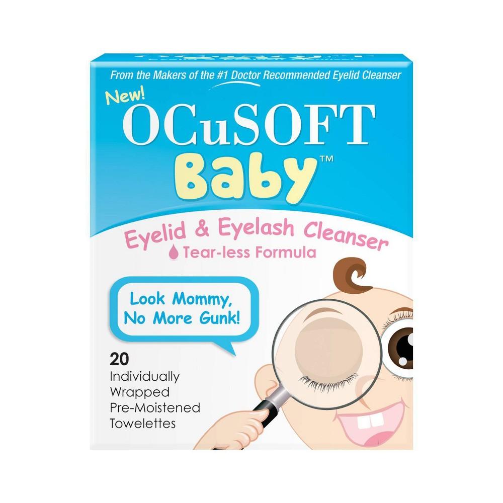 Ocusoft Baby Eyelid Eyelash Tear Less Cleanser Towelettes 20ct