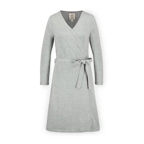 Hope & Henry Womens' Long Sleeve Wrap Sweater Dress - image 1 of 4
