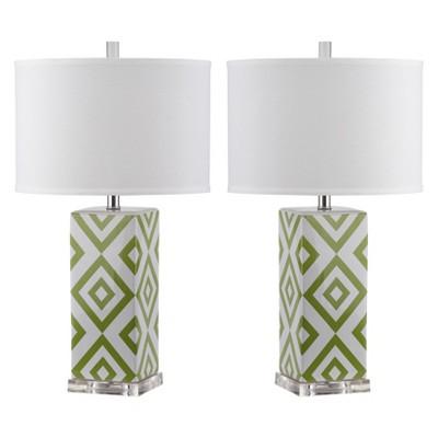 Parker Table Lamp (Set Of 2)- Green - Safavieh®