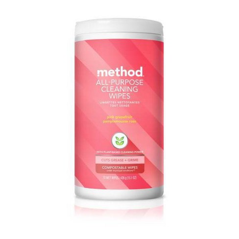 Method All Purpose Wipes Pink Grapefruit - 70ct - image 1 of 4