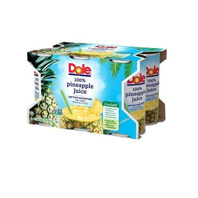 Dole 100% Pineapple Juice - 6pk/6 fl oz Cans