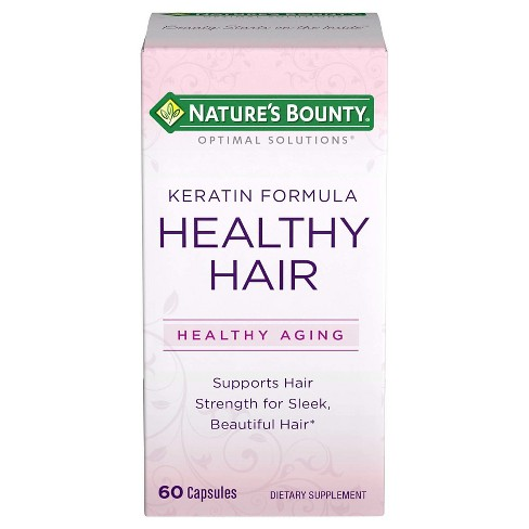 Optimal Solutions® Healthy Hair Keratin Dietary Supplement Capsules - 60ct - image 1 of 1