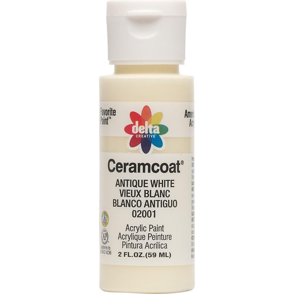 Image of 2 fl oz Acrylic Craft Paint Antique White - Delta Ceramcoat