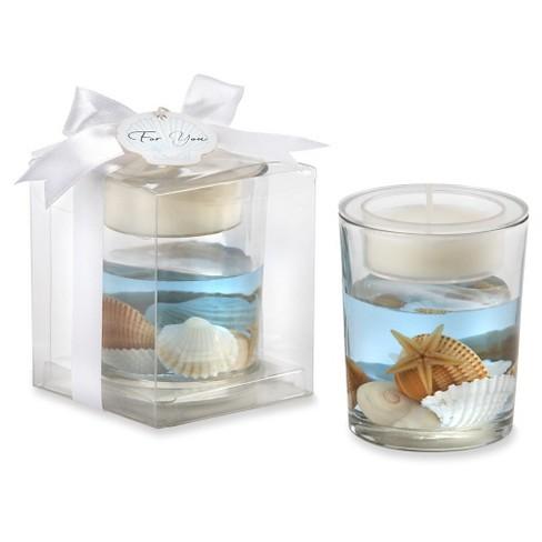 12ct Seashell Gel Tealight Holder - image 1 of 2