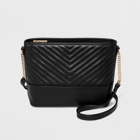 6ab6d53d6d Quilted Bucket Crossbody Bag - A New Day™ Black : Target