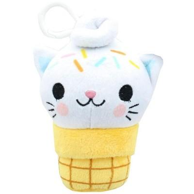 Se7en20 Kitty Cone Clip Yummy Sprinkles 5 inch Plush Backpack Clip