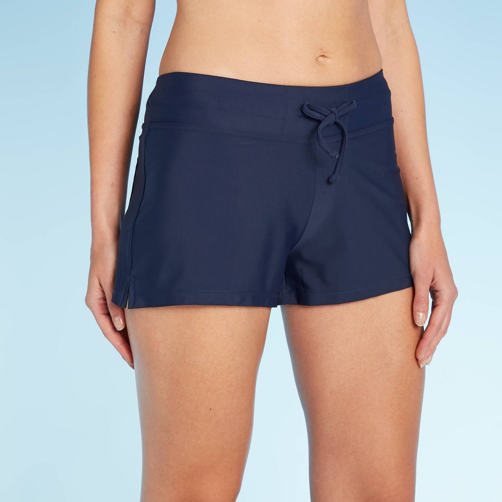 Image of Women's Active Swim Shorts - Kona Sol Navy L, Women's, Size: Large, Blue