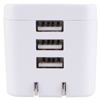 Philips 3-Port USB Wall Charger - White