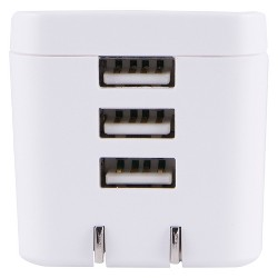 General Electric 3 Port AC USB Adapter 3.4A White