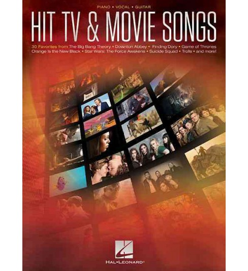 Hit TV & Movie Songs : Piano - Vocal - Guitar (Paperback) - image 1 of 1