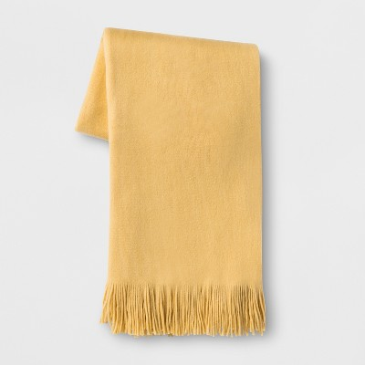 Cozy Solid Throw Blanket Yellow - Threshold™