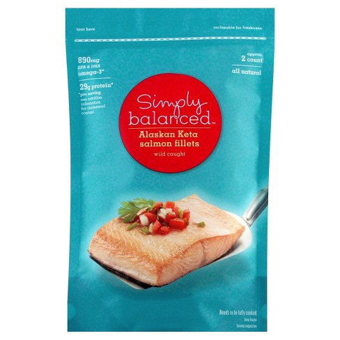 Frozen Alaskan Keta Salmon Fillets - 12oz - Simply Balanced™ - image 1 of 3