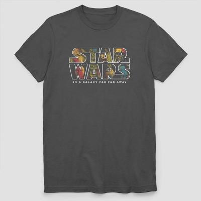 Men's Star Wars Character Logo Short Sleeve Graphic T-Shirt - Charcoal Gray