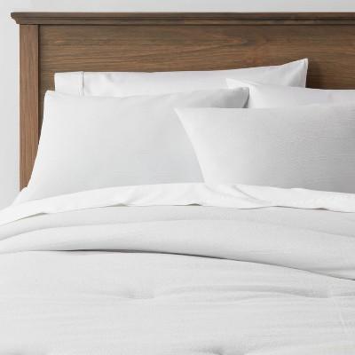 King Simple Woven Stripe Comforter & Sham Set Light Gray - Threshold™