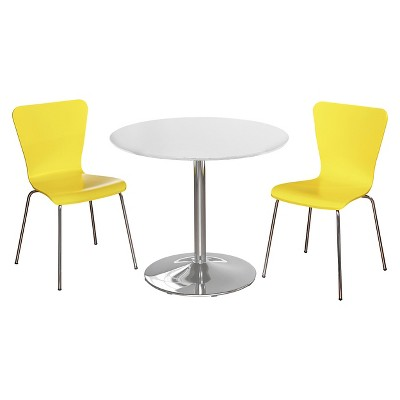 Attrayant Hillsboro Dining Set White/Yellow 3 Piece   TMS