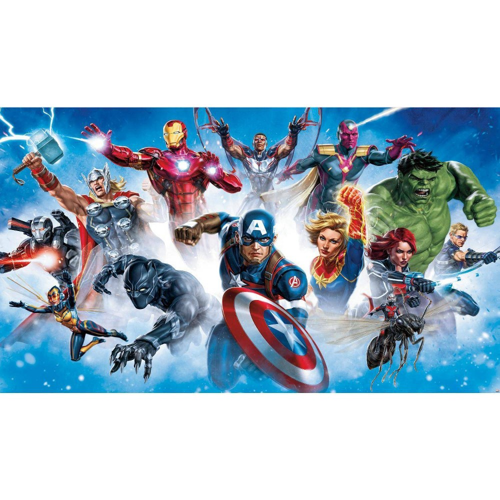 Image of Avengers Gallery Art Peel and Stick Wall Mural - RoomMates
