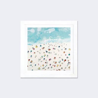 Beach Days by Randy Hibberd Framed Fine Art Paper Print White - iCanvas
