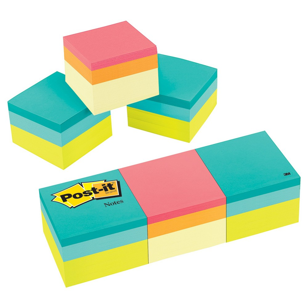 Post - it Notes Mini Cube 2 x 2 - Multi-Colored (400 Sheet Pads Per Pack)
