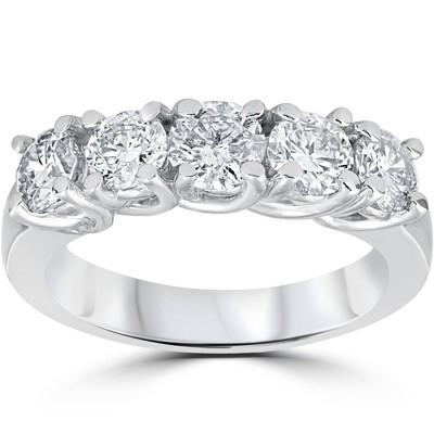 Pompeii3 1 1/2ct Diamond Wedding Anniversary Band 14k White Gold Ring