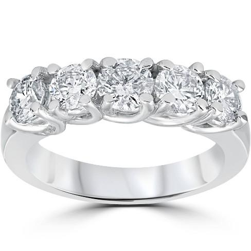 Pompeii3 1 1/2ct Diamond Wedding Anniversary Band 14k White Gold Ring - image 1 of 4