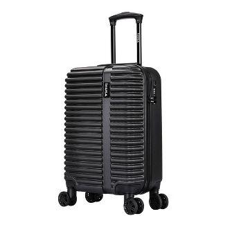 "InUSA Ally 20"" Lightweight Hardside Carry On Spinner Suitcase - Black"