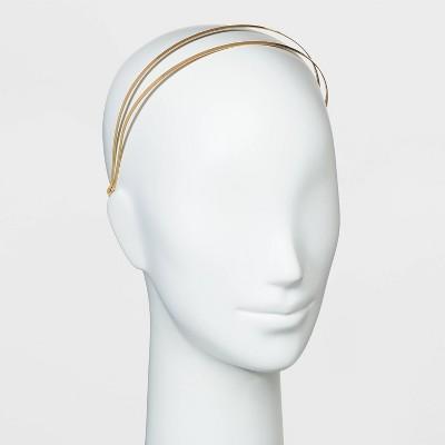 Double Row Metal Headband - Universal Thread™ Gold