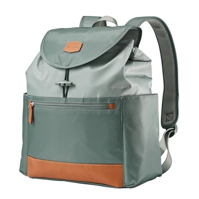JJ Cole Mezona Cinch Top Backpack Diaper Bag - Forest Green
