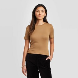 Women's Short Sleeve Crewneck Fitted T-Shirt - A New Day™