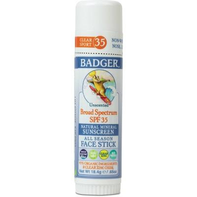 Badger Sport Mineral Sunscreen Face Stick - SPF 35 - 0.65oz