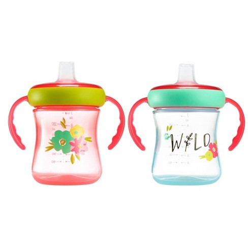 The First Years Soft Spout Trainer 2pk Cup - Wild - 7oz - image 1 of 4