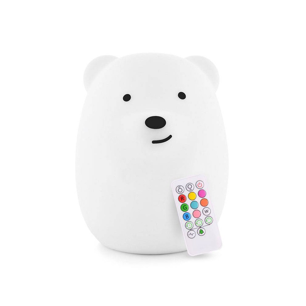 Image of Lumipets LED Kids Night Light Lamp with Remote - Bear