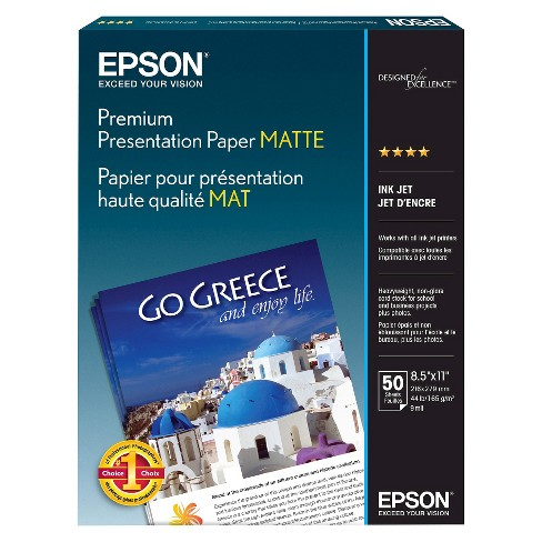 "Epson Premium Presentation Paper Matte 8.5 X 11"" - 50ct - image 1 of 4"