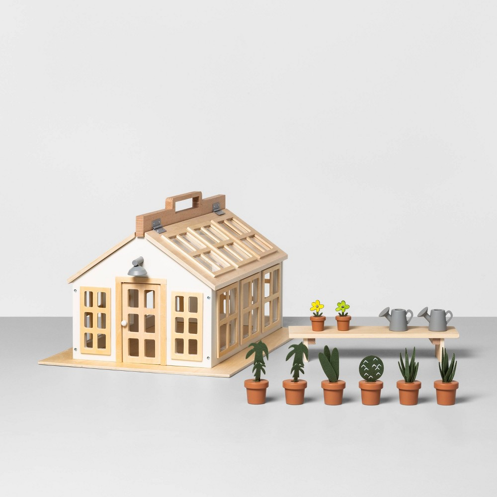 Image of Wooden Toy Greenhouse - Hearth & Hand with Magnolia