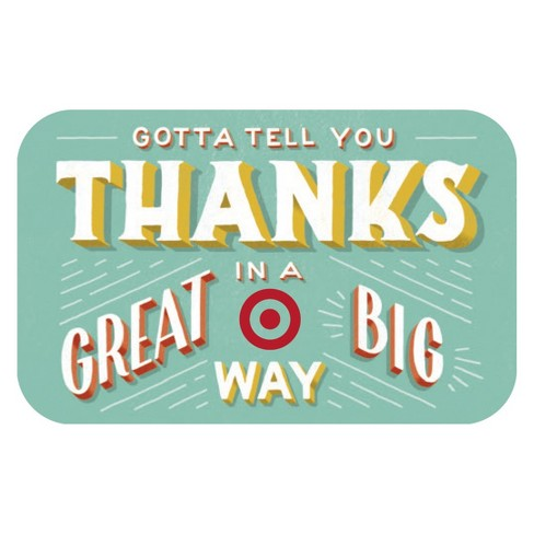 Great Big Thanks GiftCard - image 1 of 1