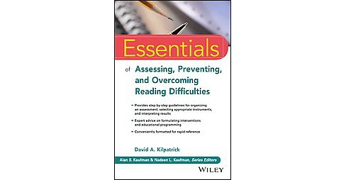 Essentials of Assessing, Preventing, and Overcoming Reading Difficulties (Paperback) (David A. - image 1 of 1