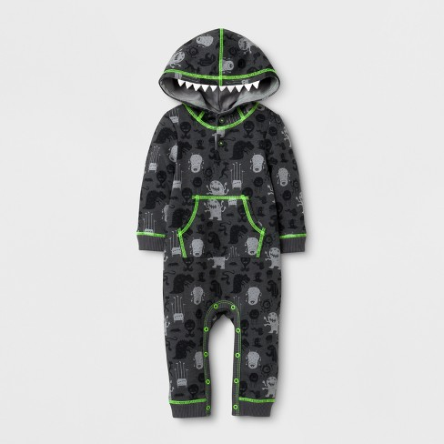 ff0e3cab4df8 Baby Boys  Monster Halloween Hooded Long Sleeve Romper - Cat   Jack ...