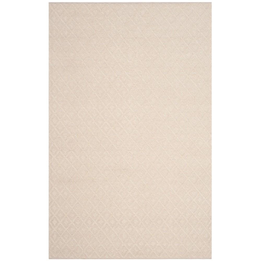 5'X8' Woven Geometric Area Rug Ivory - Safavieh, White