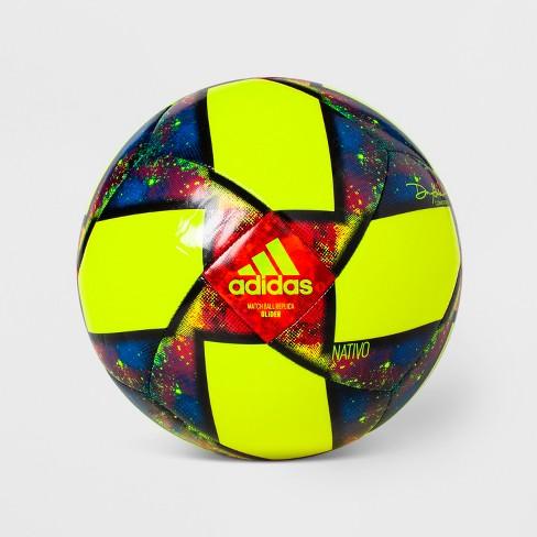 c0585a67586a Adidas MLS Glider Soccer Ball - Yellow Blue   Target
