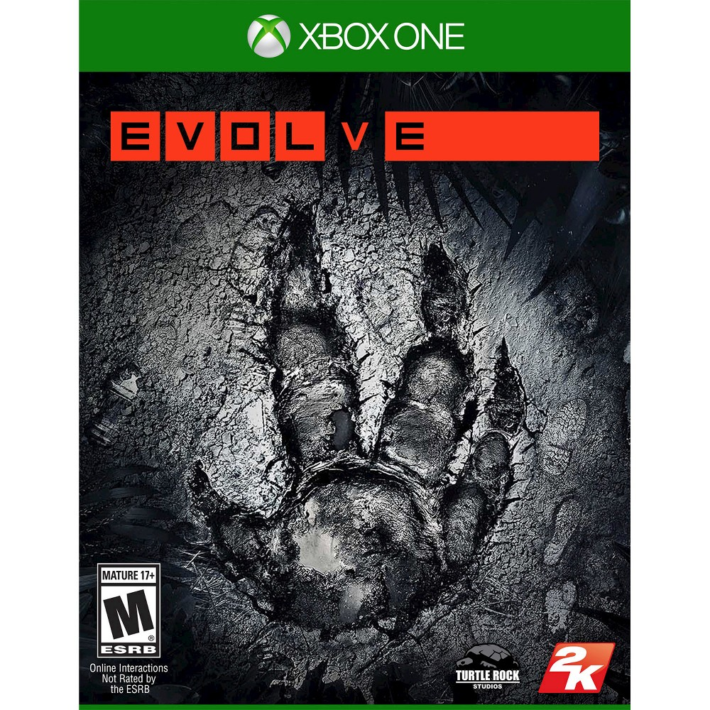 Evolve Pre-Owned Xbox One Enter a world of hunters and monsters in Evolve Pre-Owned (Xbox One). The game offers a multiplayer shooter experience that tests the theory  survival of the fittest . The game works for Xbox One consoles. The video game is recommended for ages 17 and older.