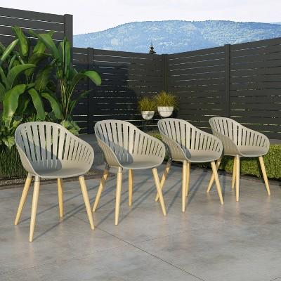 Bayeux 4pc Chair Set Light Teak - Amazonia