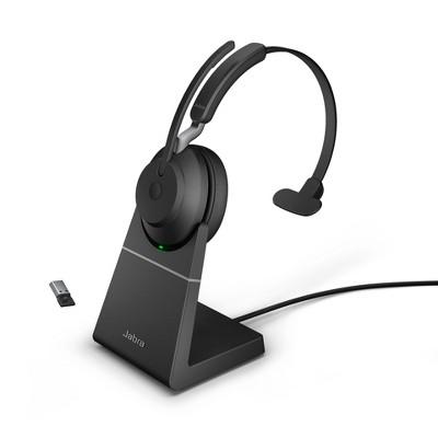 Jabra Evolve2 65 USB-A UC Mono with Charging Stand - Black Wireless Headset / Music Headphones
