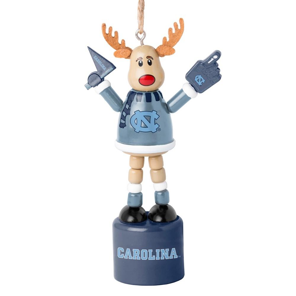 NCAA North Carolina Tar Heels Reindeer Ornament