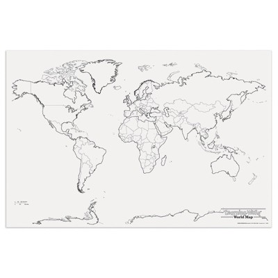 Pacon Giant World Map 48In X 72In 78770