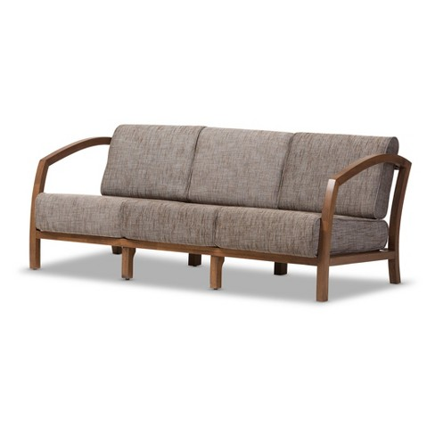 Velda Modern and Contemporary Fabric 3 - Seater Sofa - Gravel Multi Colors - Baxton Studio - image 1 of 4