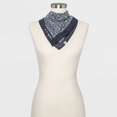 Women's Geo Print Bandana - Universal Thread™ Dark Gray One Size