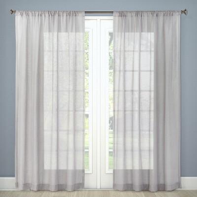 Sheer Curtain Panel Gray 54 x84  - Threshold™